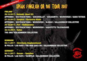 Speak finglish or die tour 2017 @ Pori   Finland