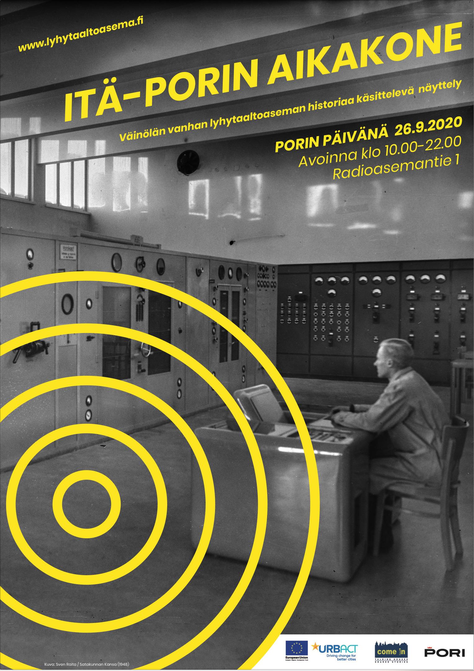 Itä-Porin aikakone –näyttely  Porin päivänä 26.9.2020